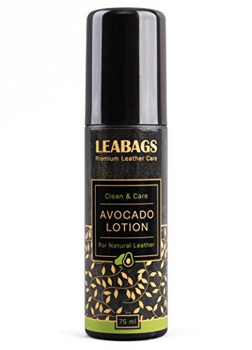 LEABAGS Avocado Lotion Premium Lederpflege zur Pflege Imprägnierung Reinigung von Echtem Leder Fettleder Glattleder Naturleder-Arten Biologisch 75 ml