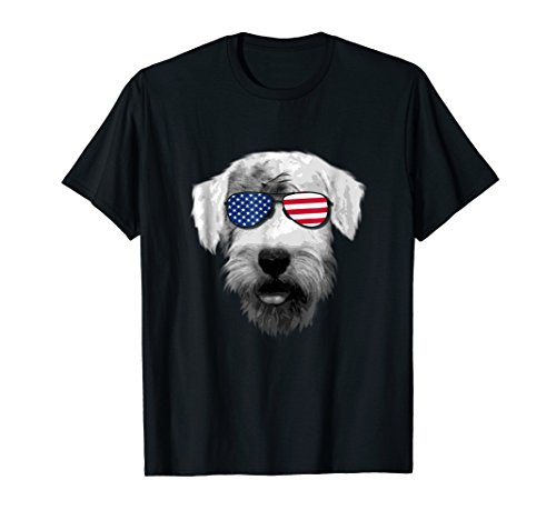 Patriotic Sealyham Terrier Dog Merica T-Shirt 4th of july