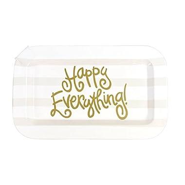 Coton Colors White Stripe Happy Everything Mini Rectangle Platter
