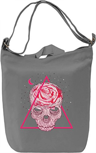 Pink Skull Borsa Giornaliera Canvas Canvas Day Bag| 100% Premium Cotton Canvas| DTG Printing|
