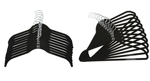 Joy Mangano 20 Pk Suit/Shirt Huggable Hangers, Black