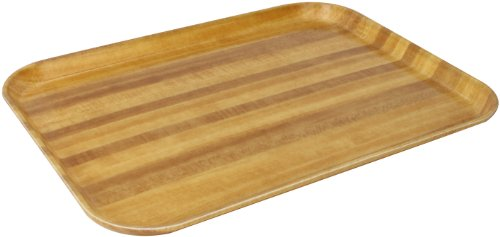 Carlisle 1814WFG094 Fiberglass Glasteel Wood Grain Rectangular Tray, 18.00