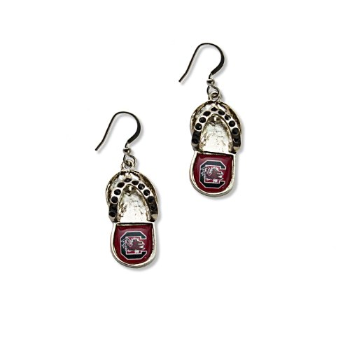- NCAA South Carolina Gamecocks Crystal Flip Flop Earrings