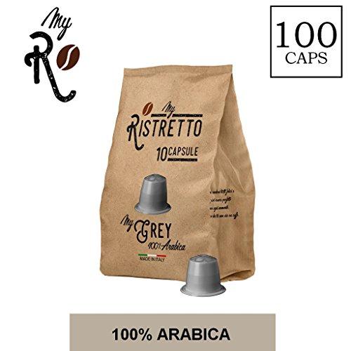 100 Cápsulas de Café compatibles Nespresso - Mezcla MyGrey 100% Arabica - MyRistretto - FRHOME: Amazon.es: Alimentación y bebidas