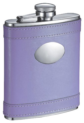 Visol VF1197 Lave Lave 6oz Lavender Leather Stainless Steel 6oz Flask Hip Flask 刻印プレート付き B000GKQ2CY, VIPガリバーチェーン:c74558c4 --- ijpba.info