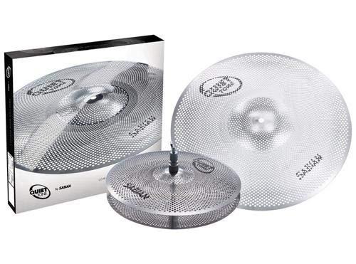 Sabian QTPC501 Quiet Tone Practice Cymbal Set -Silver- 13/18 (QTPC501) SABIAN Performers Accessories