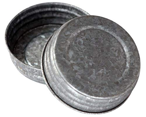 - Galvanized Vintage Reproduction Lids for Mason, Ball, Canning Jars (4 Pack, Regular Mouth)