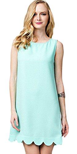Aqua Sleeveless Dress - 8