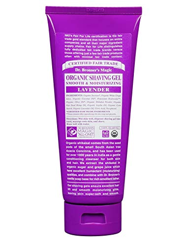 Dr. Bronner's Shaving Gel, Lavender - 7 oz Dr. Bronner' s Shaving Gel SD0401