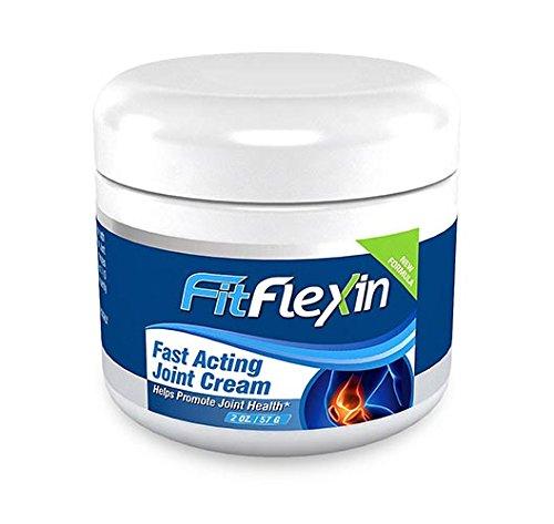 FitFlexin rapide Crème conjointe par intérim [2 oz Jar] - # 1 Rated Formule mondiale conjointe soulagement de la douleur et de la Basse Back Pain Relief Cream - # 1 Choix pour les personnes souffrant de l'arthrite, bursite, syndrome du canal carpien, la f