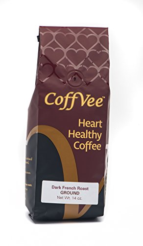CoffVee - Heart Healthy Coffee Infused with Resveratrol Antioxidant - Dark French Roast - Ground Coffee - 14 oz bag - Vera Roasting Company