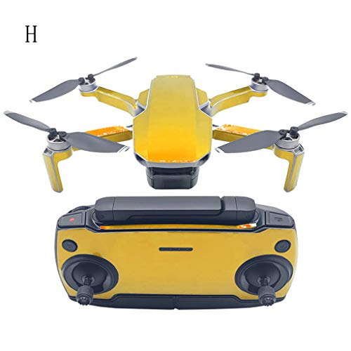 Full Cover Graffiti Camouflage Skin Stickers for DJI Mavic Mini Drone &Remote Controller &Battery Label Stickers Waterproof Scratch-Proof PVC Protective Film (#H)