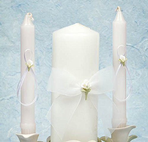 Calla Lily Bouquet Wedding Unity Candle Set: Candle Color: White