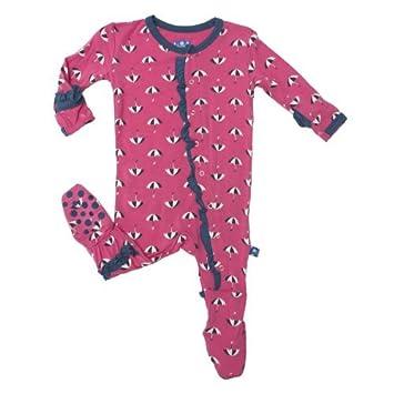 402991f2b1a7 Amazon.com  Kickee Pants Print Ruffle Footie (Baby)-Flamingo ...