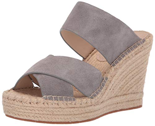 Kenneth Cole New York Women's Olivia X-Band Espadrille Wedge Sandal, Grey 7.5 M US (Kenneth Cole Wrap)