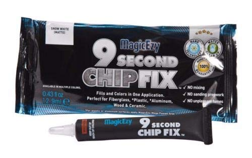 MagicEzy 9 Second Chip Fix - One-Part Filler And Color For Deep Damage Fiberglass - Snow White (RAL9003)