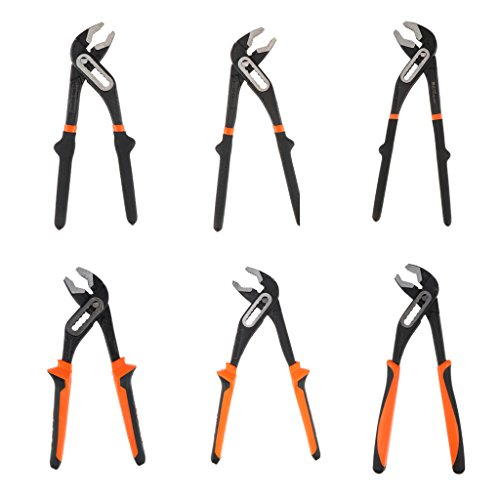 Homyl Pack of 3 Basic Adjustable Water Pump Pliers Monkey Pliers V-jaw Wrenches by Homyl