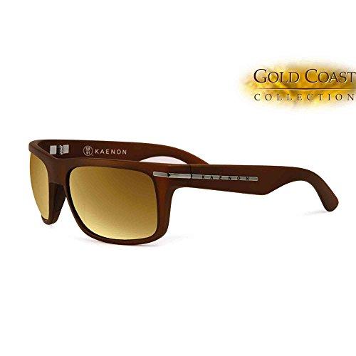 Kaenon Burnet Polarized Sunglasses, Gold Coast Brown Gold Mirror, - Kaenon Sunglasses Polarized Burnet