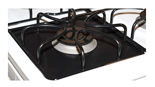 FitFabHome 6 Pack Heavy Duty Double Thickness Gas Range Protectors   Safest On The Market   100% Certified BPA & PFOA Free   Reusable, Non-Stick