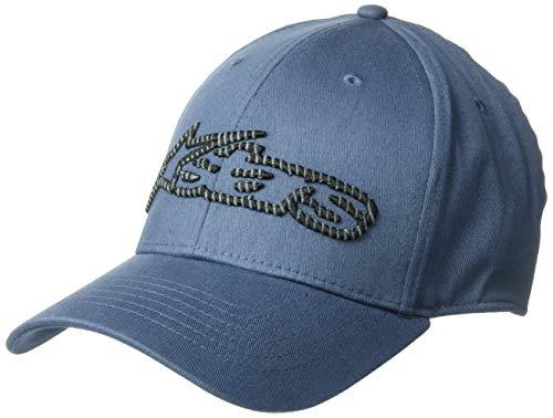 Alpinestars Men's Logo Flexfit hat Curved Bill Structured Crown, Blaze Fader Slate/Black, ()