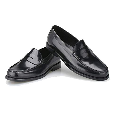 Pelle Pigro College da Trend Britannico Scarpe Black Mocassini in Scarpe Stile Scarpe Autunnali Uomo Stile wxqpx0AtPn