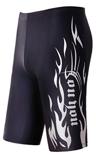 WUAMBO Swimwear Men's Swim Jammer Shorts White US X-Small Waist 26