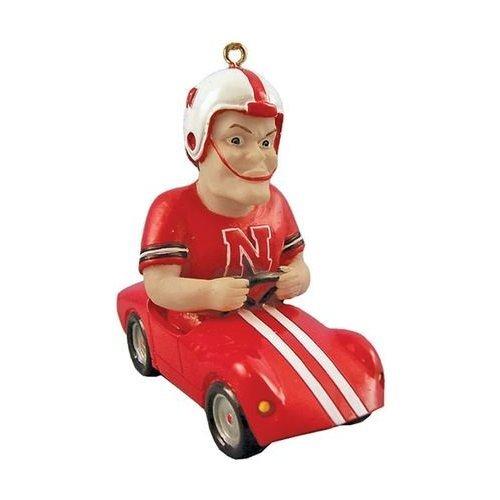 Nebraska Cornhuskers NCAA Mascot Race Car Ornament