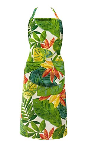 - Nanxson Women Elegant Floral Multi-Colors Beautiful Bib Apron 7085cm CF3034 (Green)