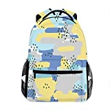 School Backpack Classic Travel Laptop Abstract Doodle Pattern Backpack Rucksack Middle School Bookbag