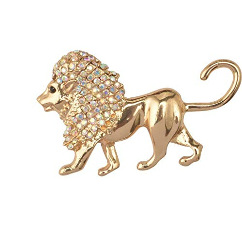 (New Animals Crystal Rhinestone Pins Brooch Fashion Jewelry Party Gifts | Shape - Lion)