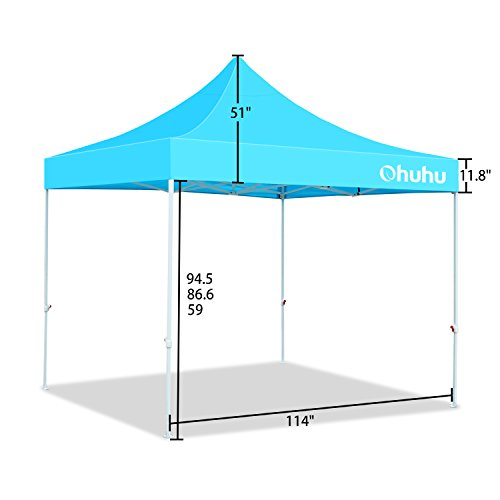 Tall Pop Up Shelter : Ohuhu pop up instant shelter canopy w wheeled carry bag