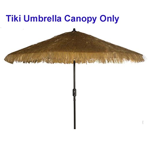 - Bayside-21 Tiki Umbrella thatch Patio Umbrella Canopy Replacement for 9' 8 Ribs Patio Umbrella Outdoor Garden Umbrella Hula Umbrella Canopy Hawaiian Style Umbrella Canopy (Tiki Natural)