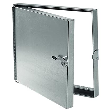 Hinged Duct Access Door, Galvanized Steel, 24x24
