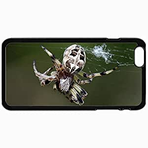 Customized Cellphone Case Back Cover For iPhone 6, Protective Hardshell Case Personalized Hairyspider Black