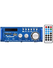 Mini Audio Power Amplifier,Phomnd 12V / 220V Mini Audio Power Amplifier BT Digital Audio Receiver AMP USB SD Slot MP3 Player FM Radio LCD Display with Remote Control Dual Channel 300W+300W