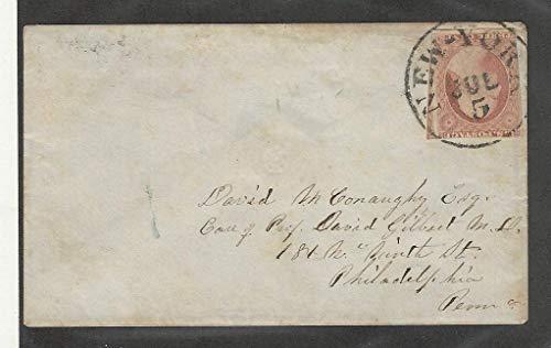 United States, Postage Stamp, 11 Cover, New York Cancel, Philadelphia, JFZ