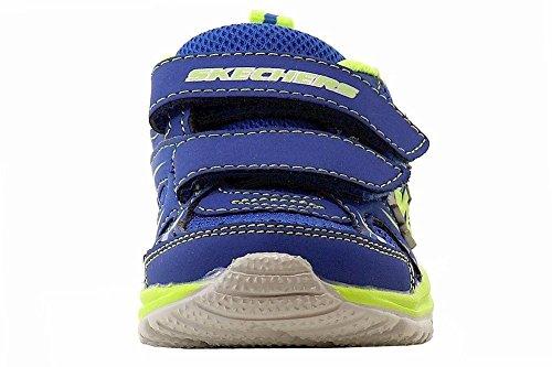 Skechers Kids 95083N Speedees - Burn Outs Sneaker,Blue/Lime,6 M US Toddler by Skechers (Image #1)