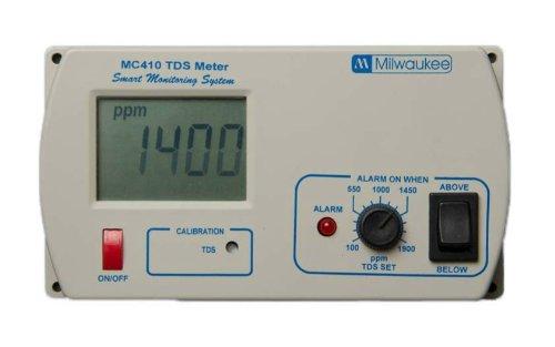 Milwaukee MC310 Conductivity EC Monitor with Mounting Kit, 0.0 to 10.0 milliSiemens/cm, +/-2 percent Accuracy Milwaukee Instruments