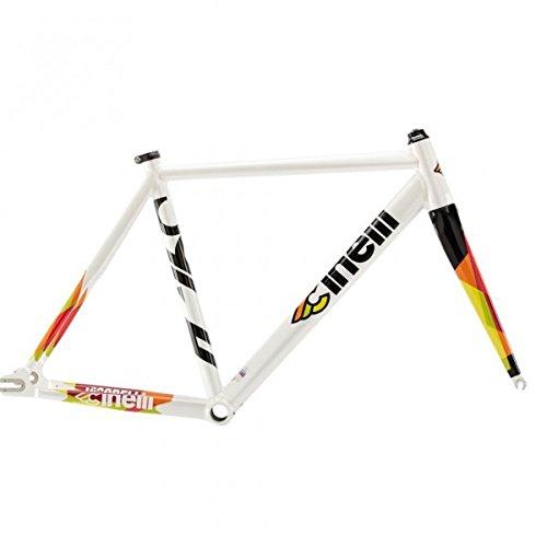 Cinelli Men's Vigorelli Alum Track Bicycle Frame Set, 58cm/X-Large, White from Cinelli