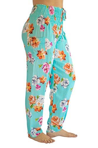 (PIYOGA Women's Yoga Pants, Regular/Tall Straight Leg (US 0-10) - Baby Blue Blush)