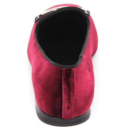 Ballerina Bordeaux Shoe Tod's velluto Nero E4226 Scarpe Woman Bordeaux Donna Velvet ABFq4R1w