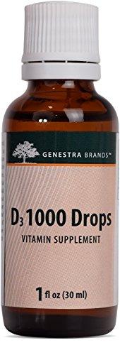 Genestra Brands - D3 1000 Drops - Liquid Vitamin D Supplement - 1 fl oz (30 ml)
