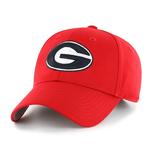 Georgia Bulldogs University Ncaa (OTS NCAA Georgia Bulldogs All-Star MVP Adjustable Hat, Red, One Size)