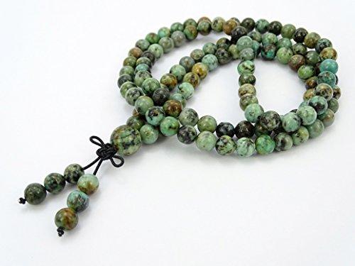 9bd8e9cc95 jennysun2010 Natural 6mm Gemstone Buddhist 108 Beads Prayer Mala Stretchy  Bracelet Necklace Healing