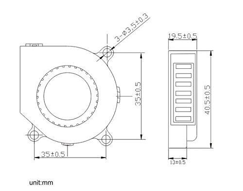 Amazon Com Gdstime 40x40x20mm 40mm 4cm 12v Dc Brushless Cooler