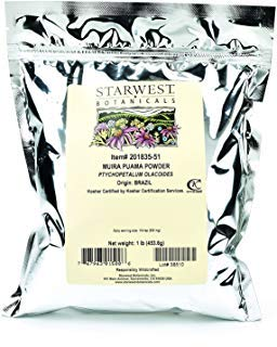 Starwest Botanicals Muira Puama Powder Wildcrafted, 1 Pound