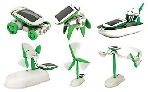 Solar Toy 6 in 1 Educational Do It Yourself Solar Kit Toy - Mini Solar Building Toy For Kids by (Educational Kits)