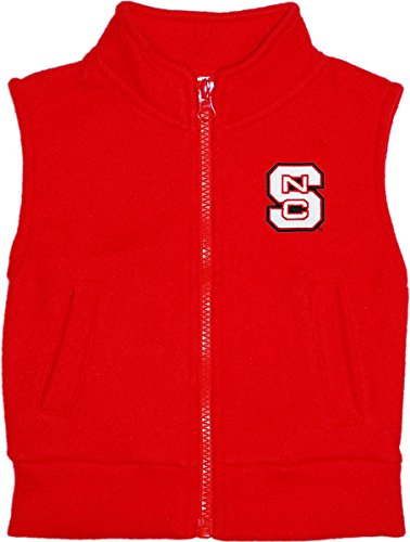 (North Carolina State University Wolfpack Baby and Toddler Polar Fleece Vest Red)