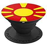 Macedonia Macedonian Makedonija Flag - PopSockets Grip and Stand for Phones and Tablets