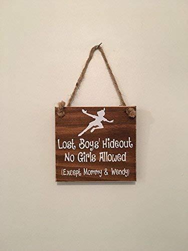 Lost Boys' Hideout | No Girls Allowed | Peter Pan Nursery | Door Sign